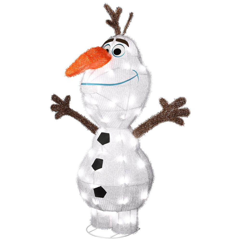 Gemmy 42 in tinsel olaf 37496 the home depot for Home depot outdoor decorations