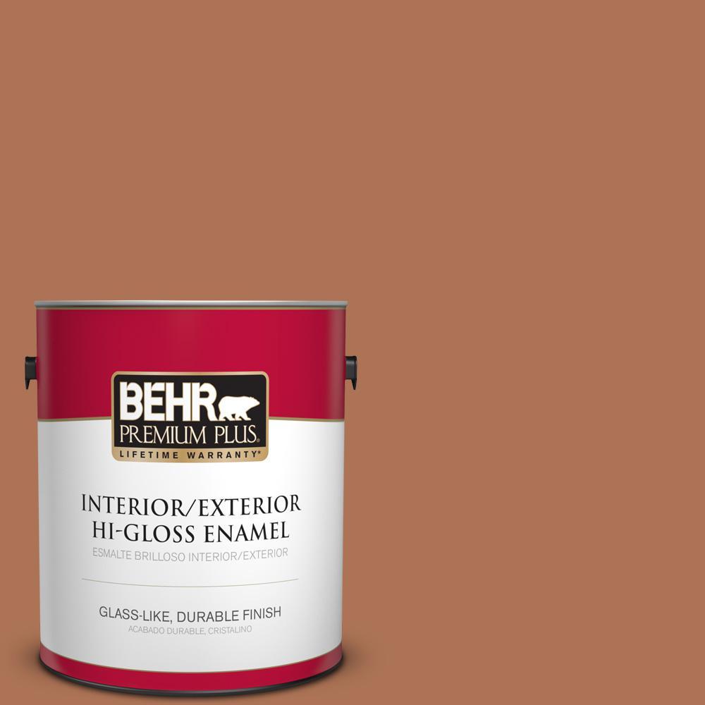 1 gal. #PPU3-15 Glazed Pot Hi-Gloss Enamel Interior/Exterior Paint
