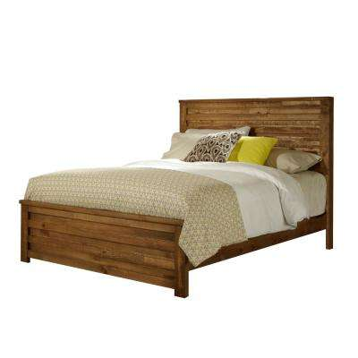 Melrose Driftwood Queen Complete Panel Bed