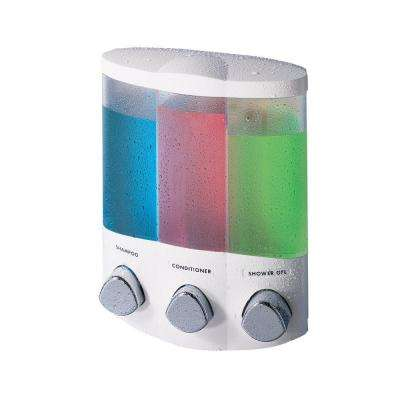 Trio Corner Dispenser in White