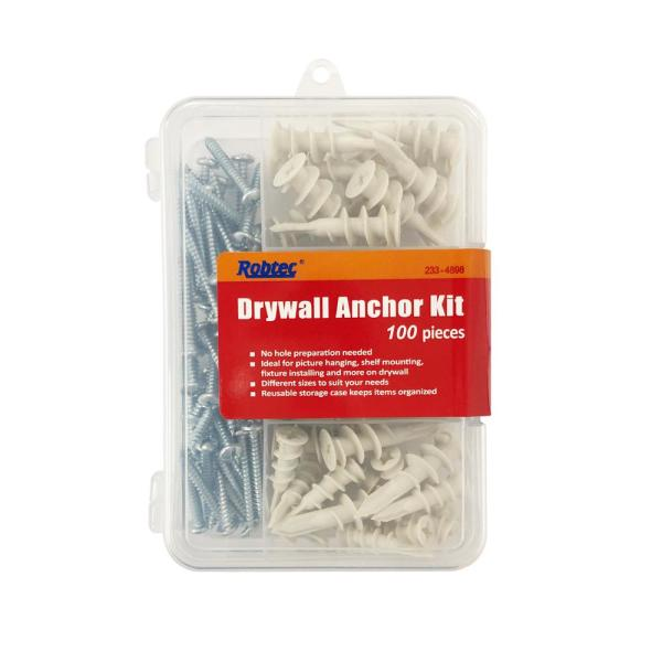 3/8 in. x 1-1/41 in. to 5/8 in. Drywall Anchor Assortment Pack (100-Pack)