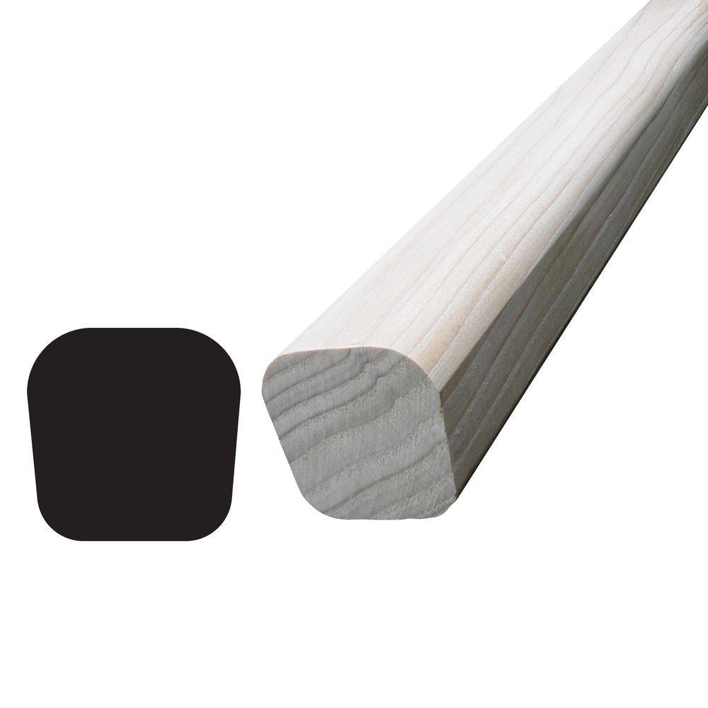 1-7/16 in. x 1-7/16 in. x 96 in. Hemlock Handrail Moulding