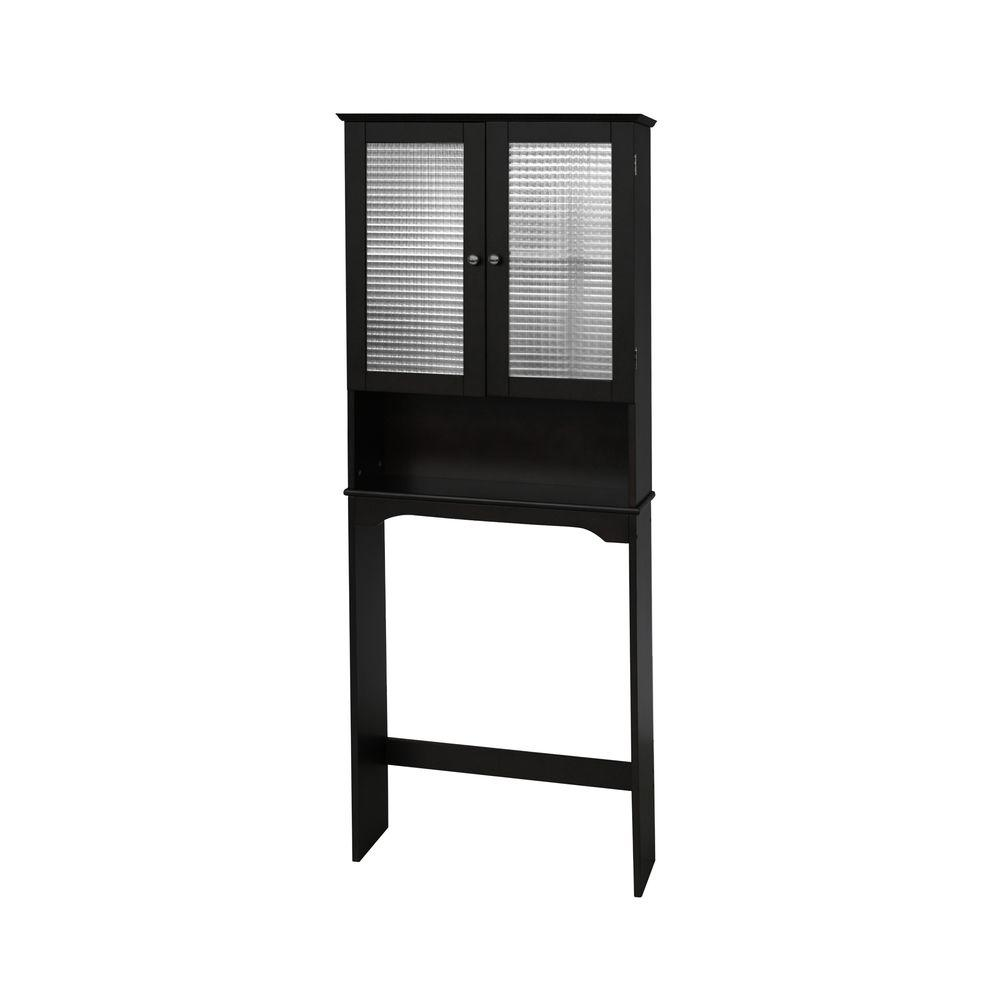 Elegant Home Fashions Cape Cod 25 in. W x 8.5 in. D x 65 in. H Space Saver Only in Espresso-DISCONTINUED