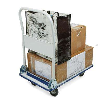 Foldable Push Cart Pallet Roller Dolly with Front Swivel Wheels, 330lbs Capacity, White