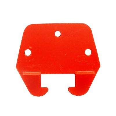 2 in. Red Plastic Drawer Track Guide (2-Pack)