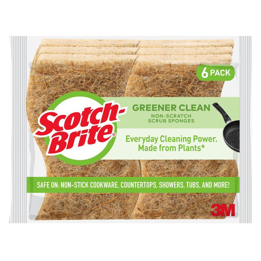 Greener Clean Non-Scratch Scrub Sponge (6-Pack)