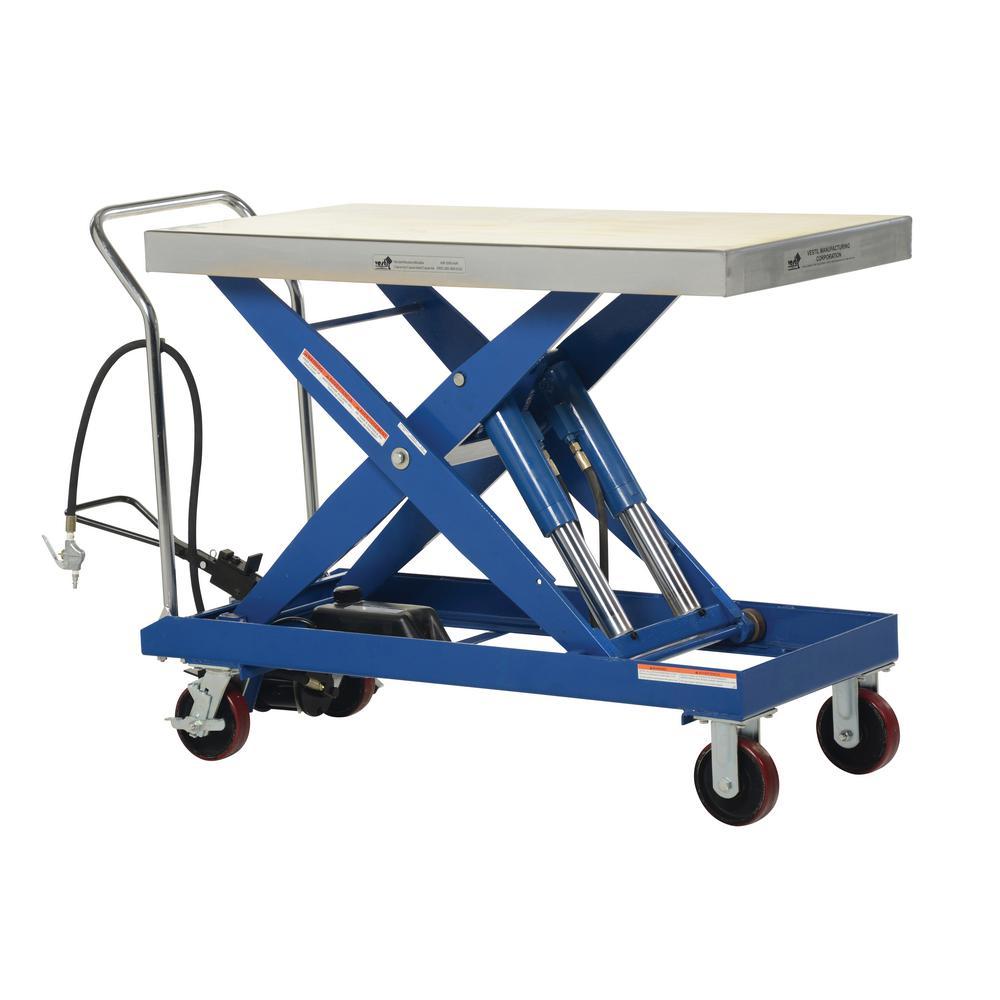 2,000 lbs. 24 in. x 47.25 in. Hydraulic Steel Cart