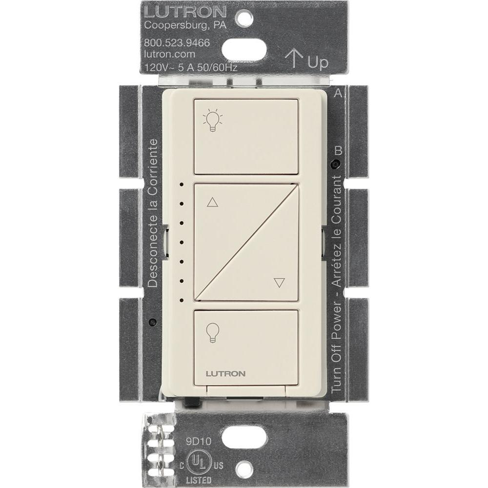 light almond lutron dimmers pd 6wcl la 64_1000 lutron caseta wireless 600 150 watt single pole in wall dimmer lutron fd-12 wiring diagram at gsmportal.co