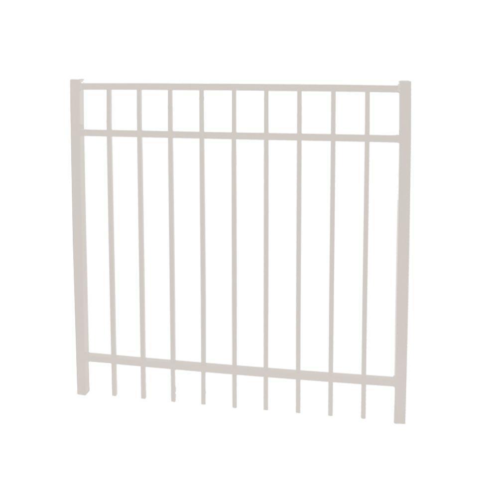 Vinnings 5 ft. W x 5 ft. H White Aluminum Fence Gate