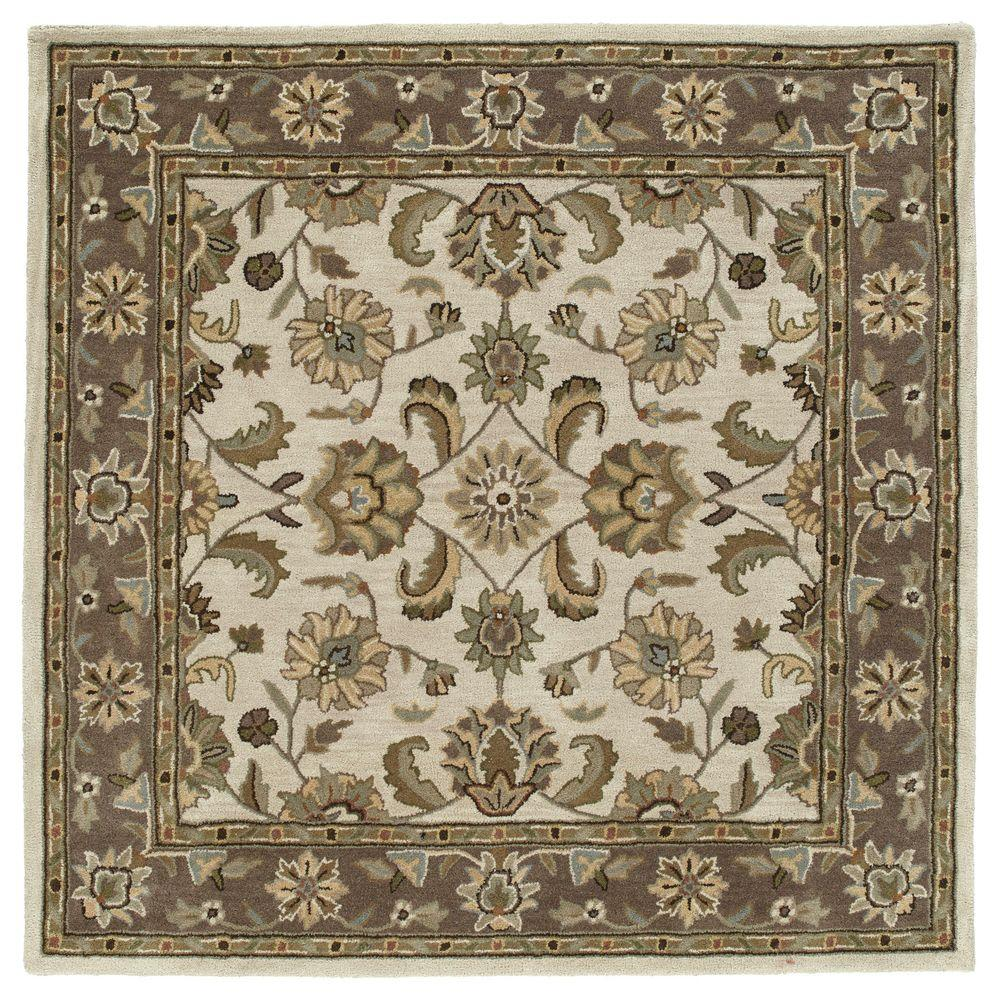 Kaleen Tara Bermuda Linen 10 Ft X Square Area Rug 7807 42 9 Sq The Home Depot