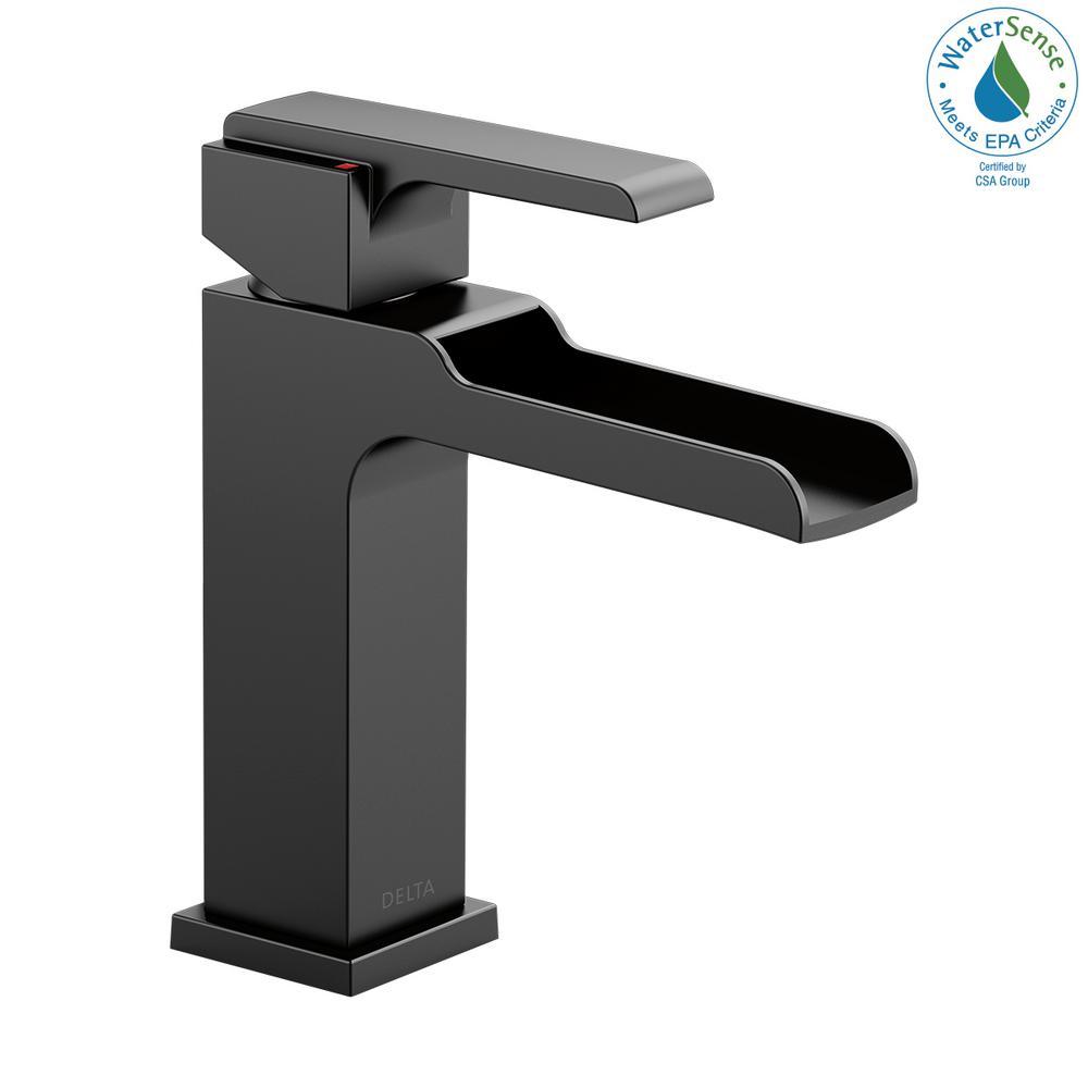 Ara Single Hole Single-Handle Bathroom Faucet Channel Spout in Matte Black