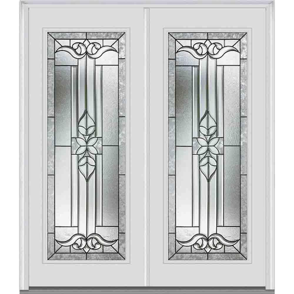 64 in. x 80 in. Cadence Left-Hand Full Lite Classic Painted