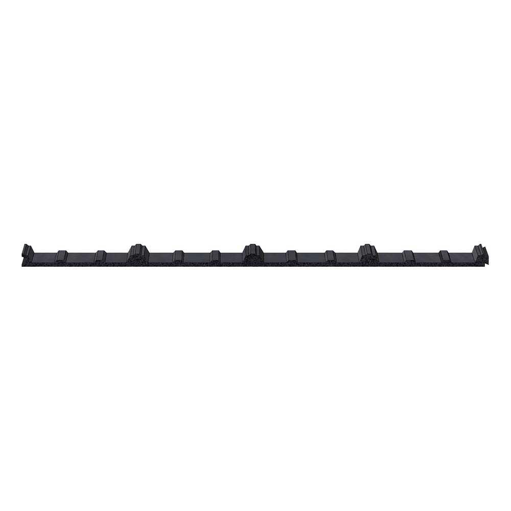 3 ft. Inside Closure Strip Foam SM-Rib Roof Accessory in Black