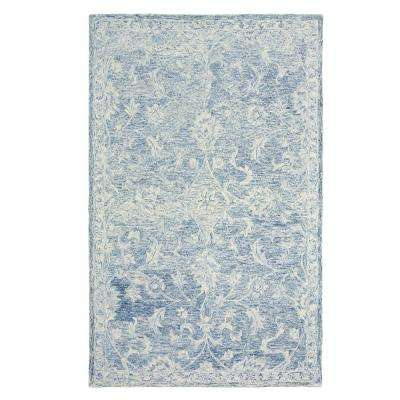 Karma Navy 9 ft. x 12 ft. Indoor Area Rug