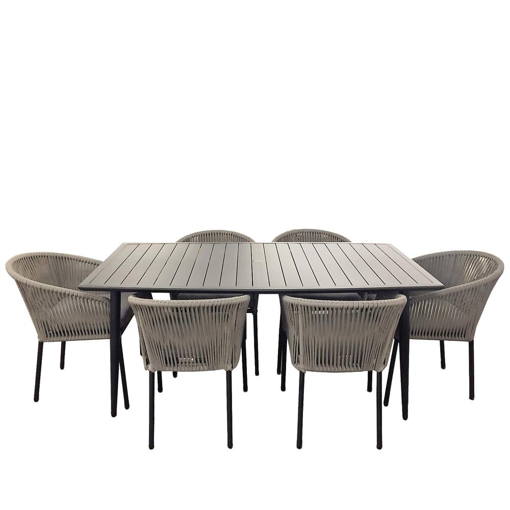 Courtyard Casual Osborne 6 Piece Aluminum Outdoor Dining Set