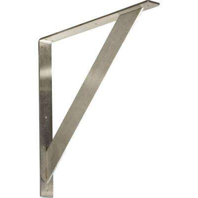20 in. x 2 in. x 20 in. Steel Unfinished Metal Traditional Bracket