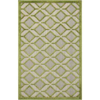 Aloha Green 3 ft. x 4 ft. Indoor/Outdoor Area Rug