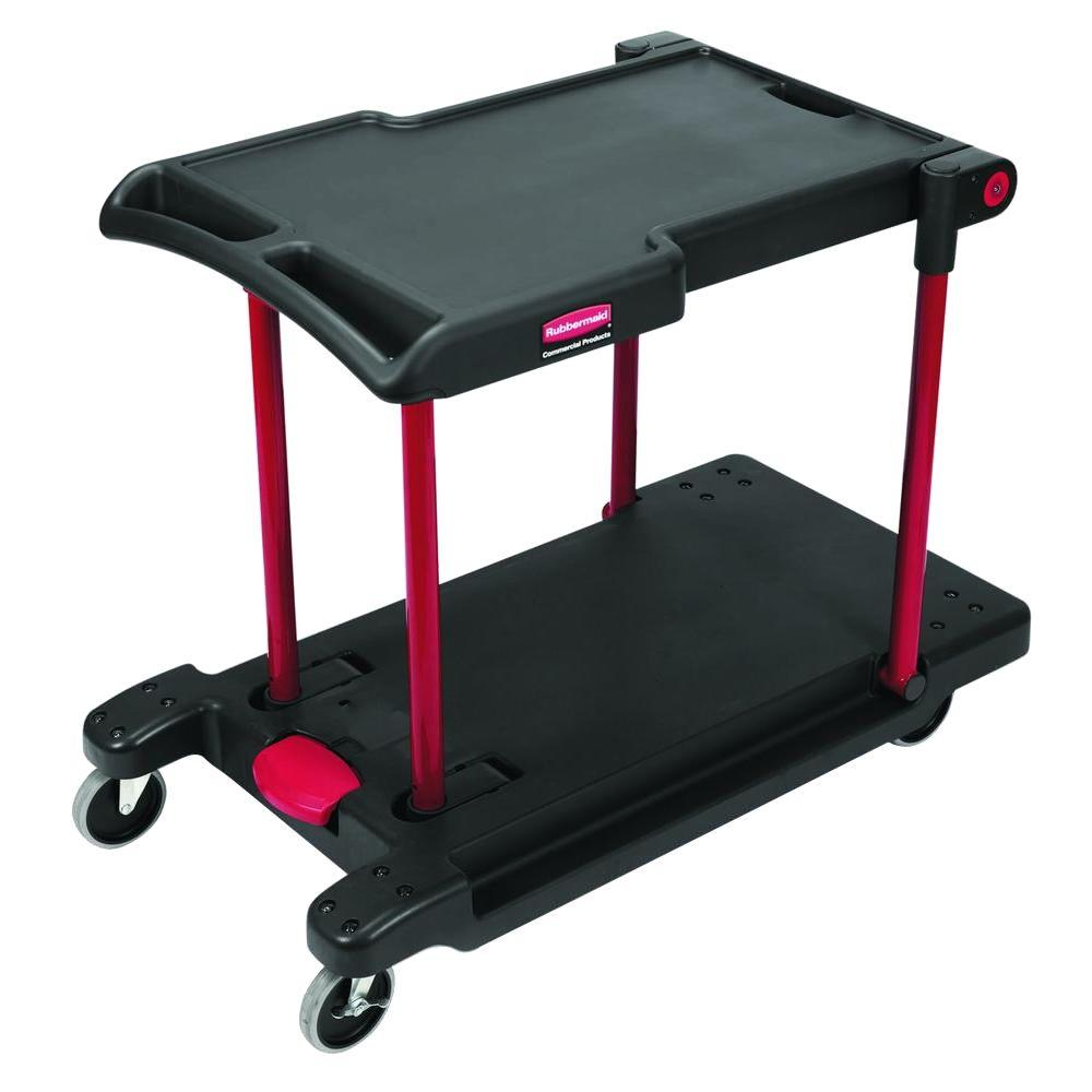 Go Home Black Industrial Kitchen Cart At Lowes Com: Rubbermaid Commercial Products Convertible Utility Cart