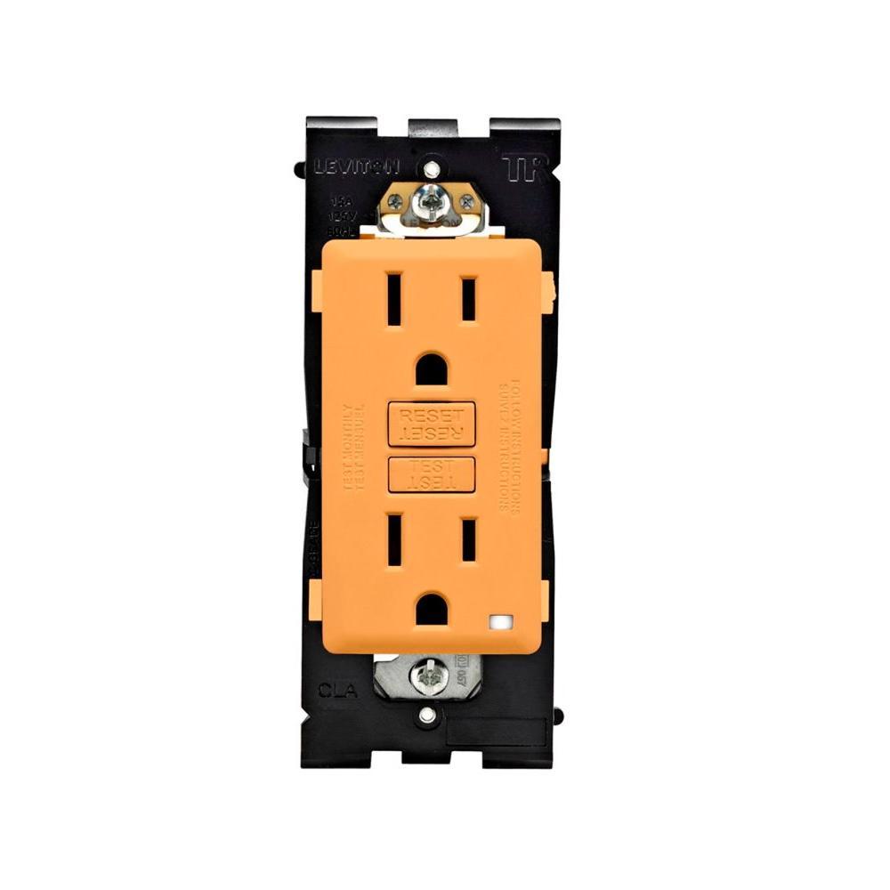 Leviton Renu 15 Amp Tamper Resistant GFCI Duplex Outlet - Toasted Coconut-DISCONTINUED