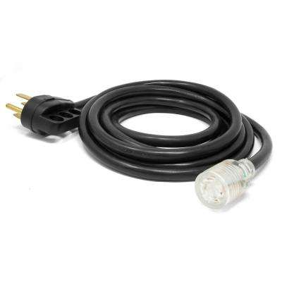 15 ft. 10-Gauge Transfer-Switch-Ready Generator Adapter Extension Cord with Light-Up Plug (50A 14-50P to 30A L14-30R)