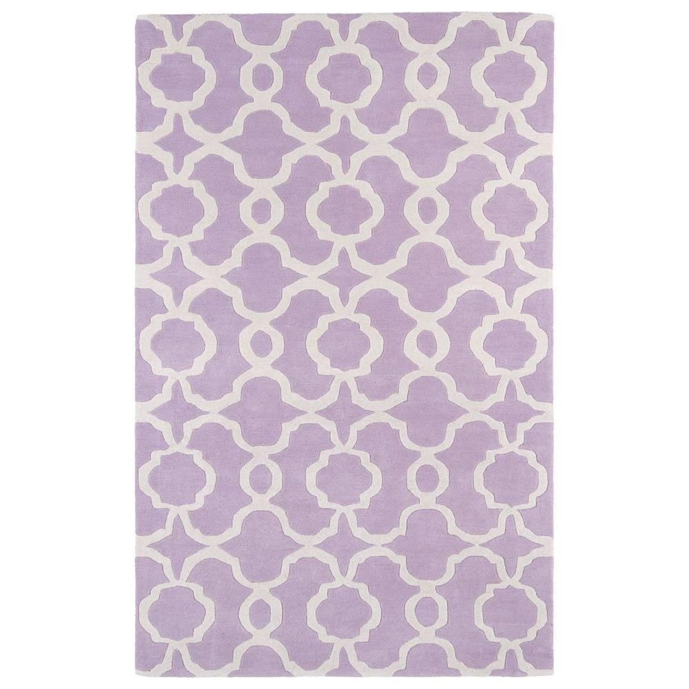 Kaleen Revolution Lilac 3 Ft X 5 Area Rug Rev03 90 The Home Depot