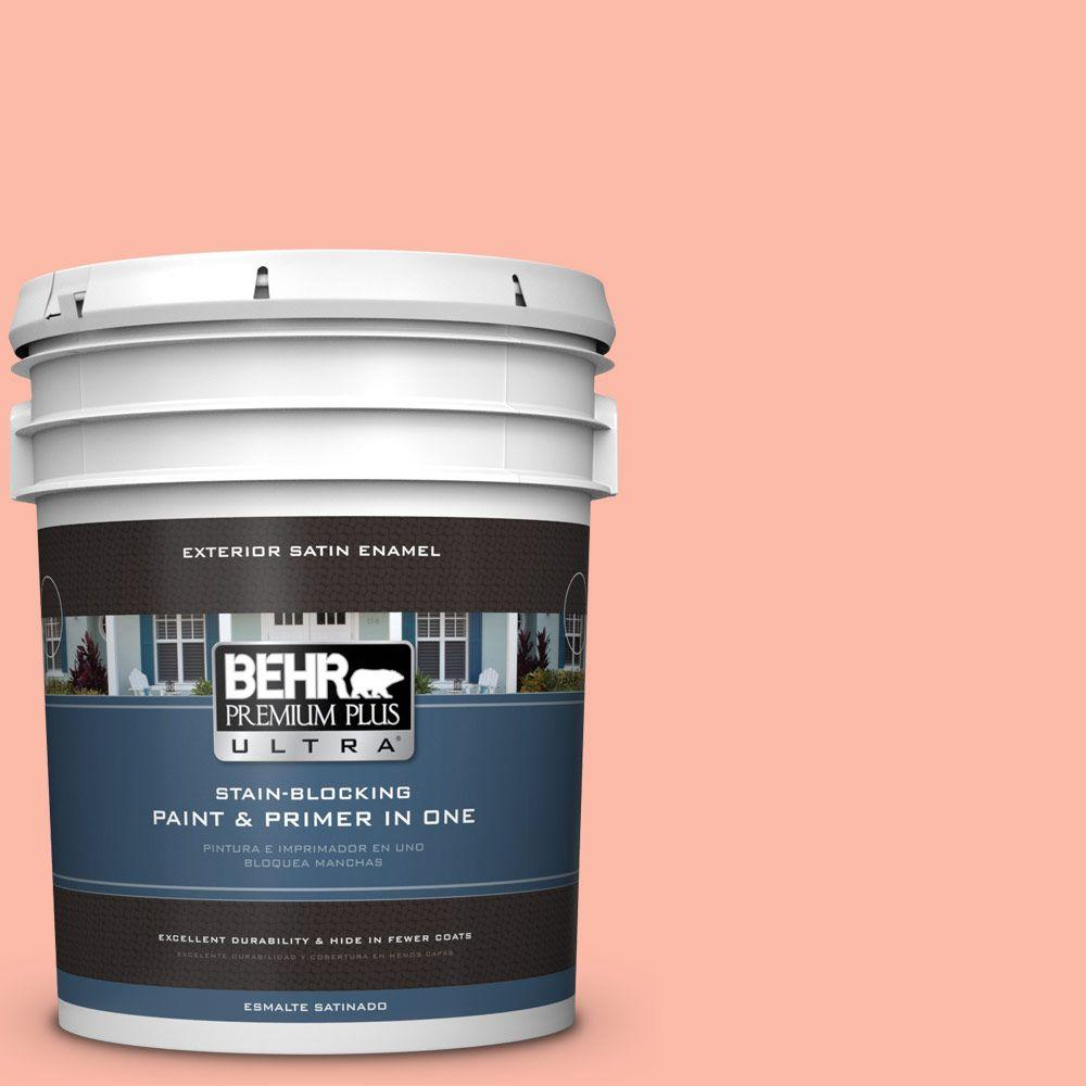 BEHR Premium Plus Ultra 5-gal. #200A-3 Blushing Apricot Satin Enamel Exterior Paint
