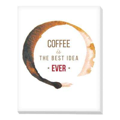 "22 in. x 28 in. ""Coffee Best Idea"" by Advantus Printed Canvas Wall Art"
