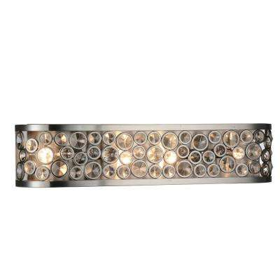 Wallula 4-Light Satin Nickel Sconce