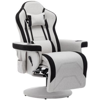 Gaming Chair Desk Ergonomic Swivel Chair High Back Racing Chair SK Depot/® High Back Racing Chair Swivel Adjustable PU Leather Computer Chair White