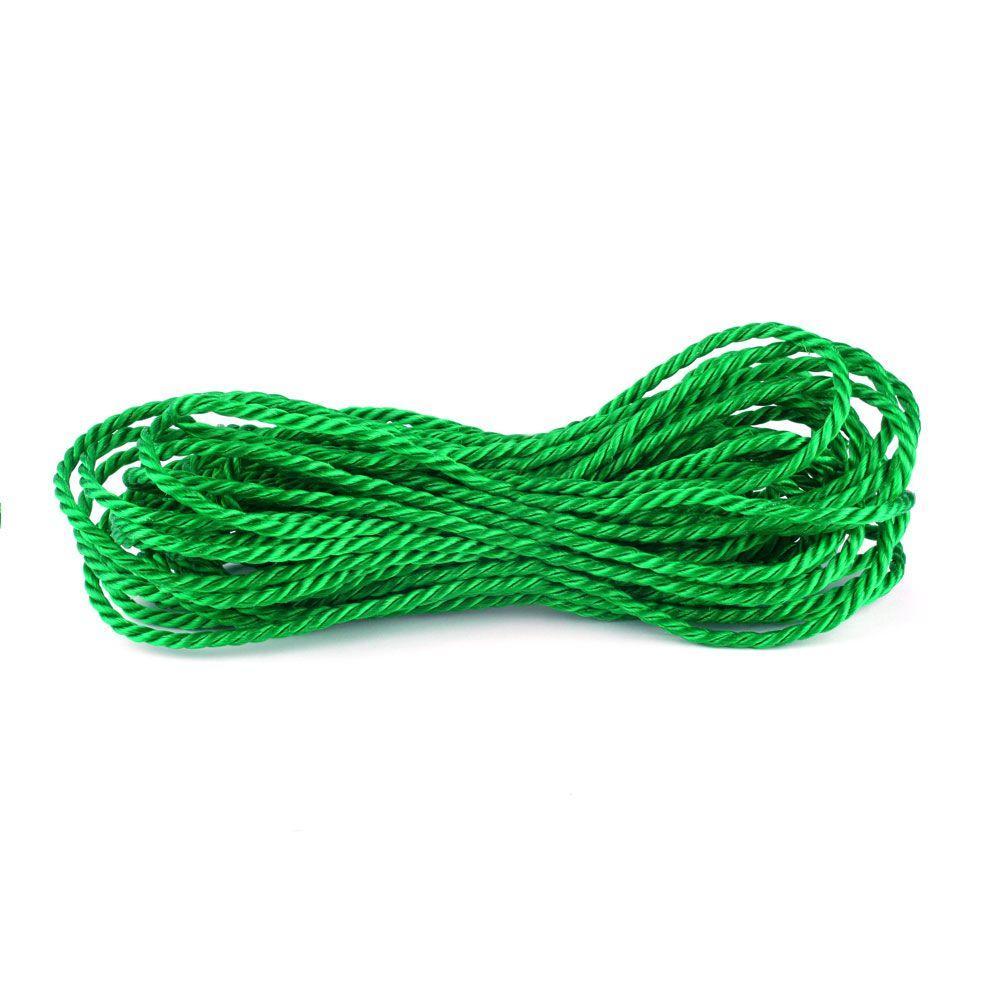 1/4 in. x 50 ft. Polypropylene Twist Rope, Green