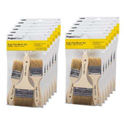 Chip Brush Set (6-Piece) (12-Pack)