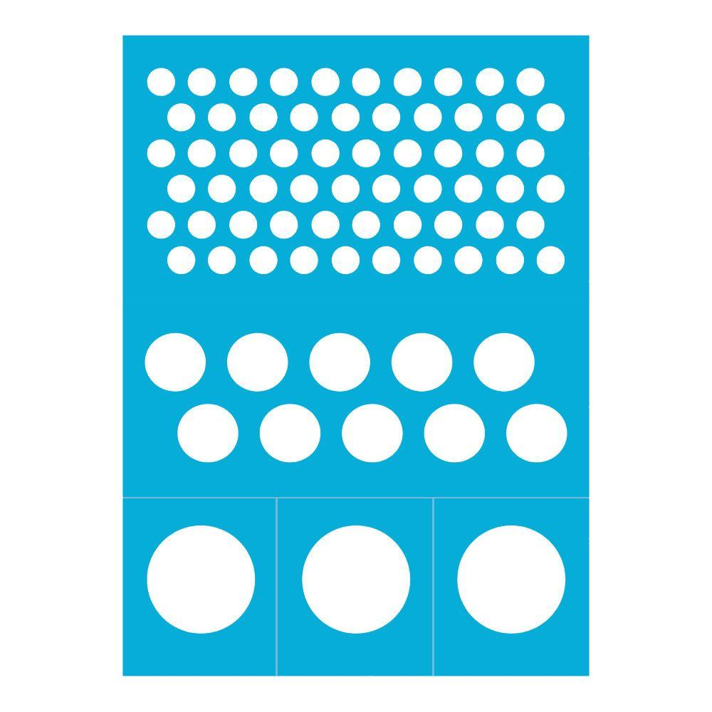 Reusable Stick on Dots Stencil 8 in. x 11 in.