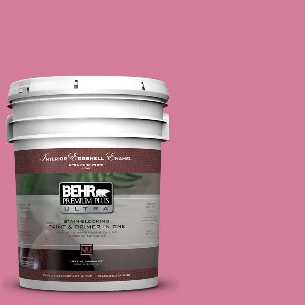 BEHR Premium Plus Ultra 5-gal. #P130-5 Little Bow Pink Eggshell Enamel Interior Paint