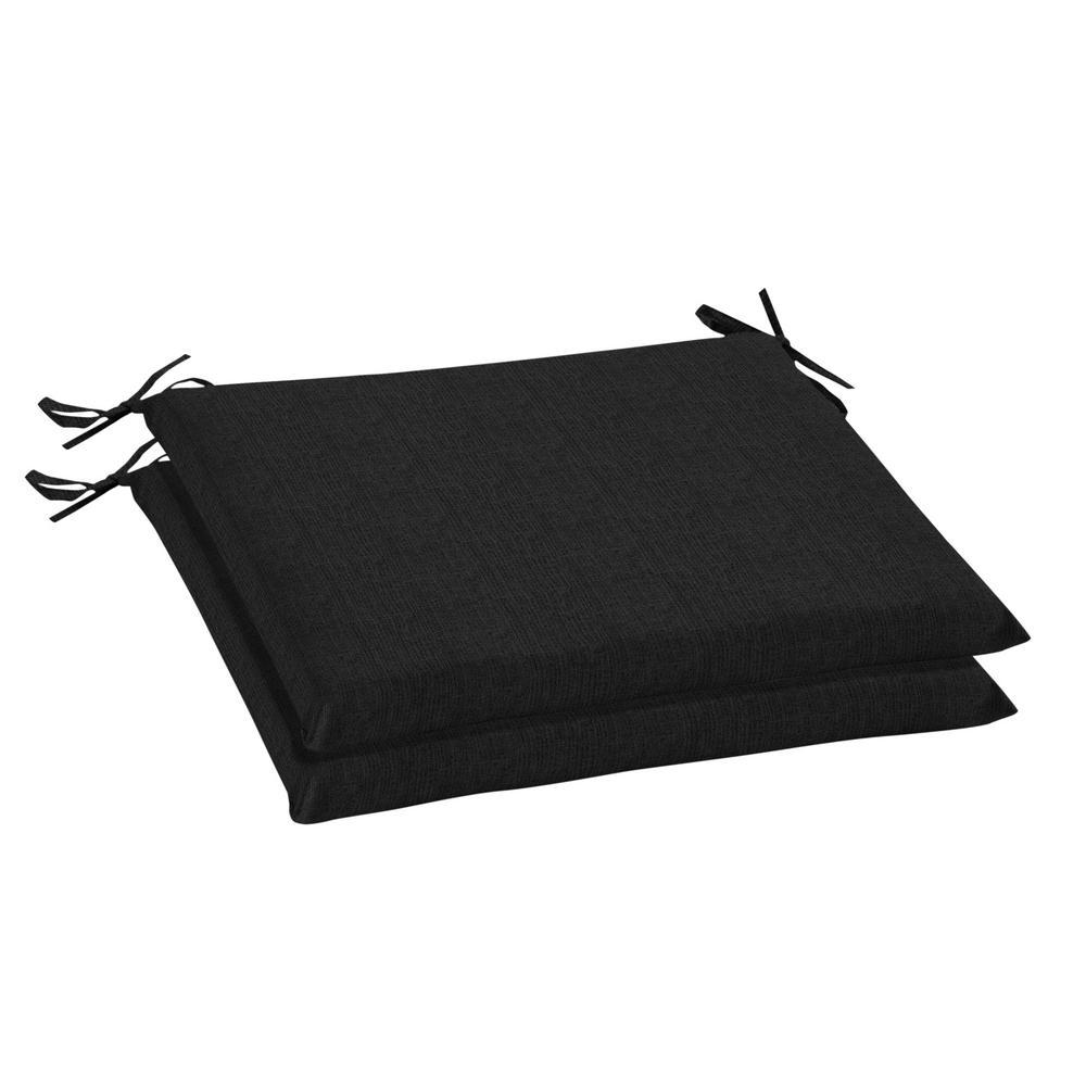 20 x 18 Sunbrella Canvas Black Outdoor Chair Cushion (2-Pack)