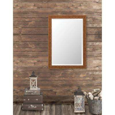 Remington 28.75 in. x 40.75 in. French Antique Wide Framed Bevel Mirror