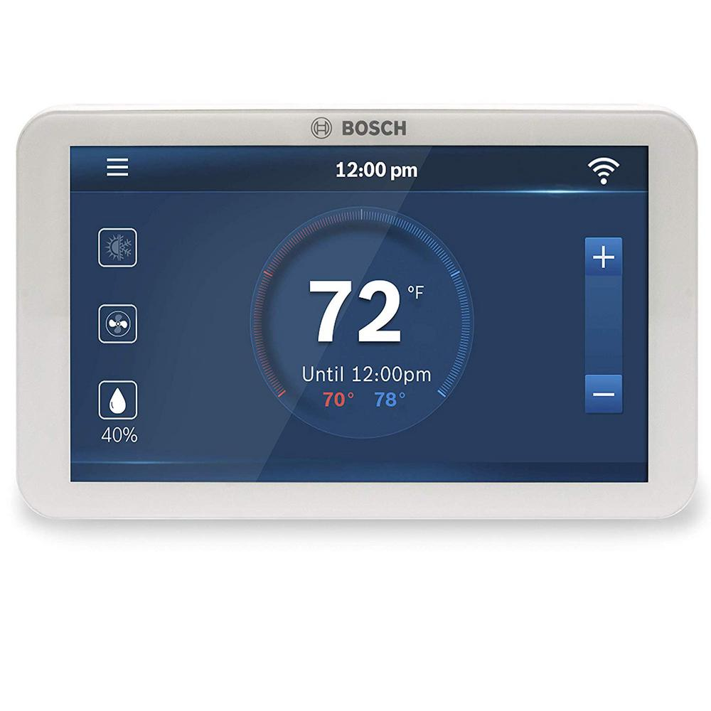 Bosch BCC100 Connected Control 7-Day Wi-Fi Internet 4-Stage Programmable Color Touchscreen Thermostat with Weather Access