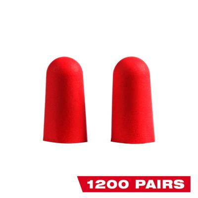 Red Disposable Earplugs (1200-Pack) with 32 dB Noise Reduction Rating