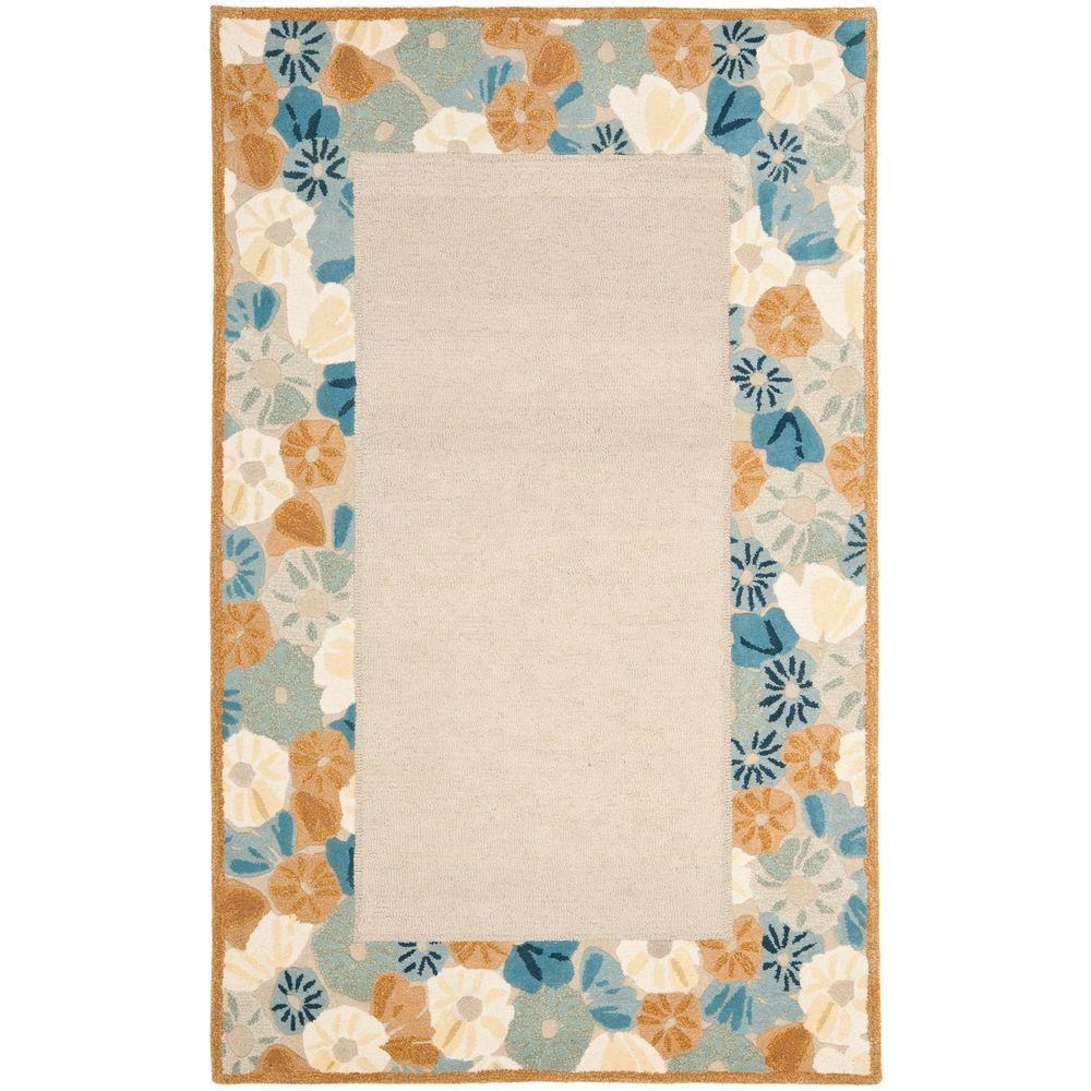 Safavieh Martha Stewart Poppy Border Cornucopia Beige 5 ft. x 8 ft. Area Rug