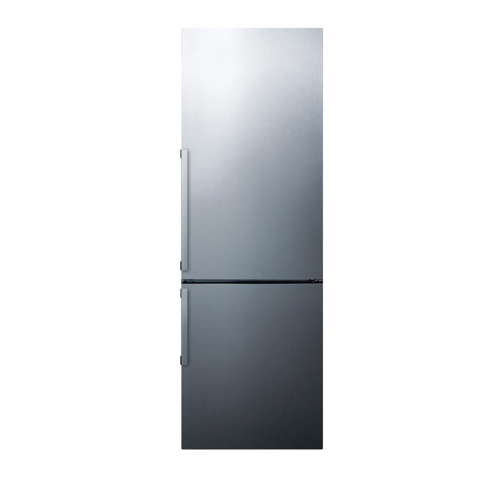 24 in. 11.35 cu. ft. Bottom Freezer Refrigerator in Stainless Steel,