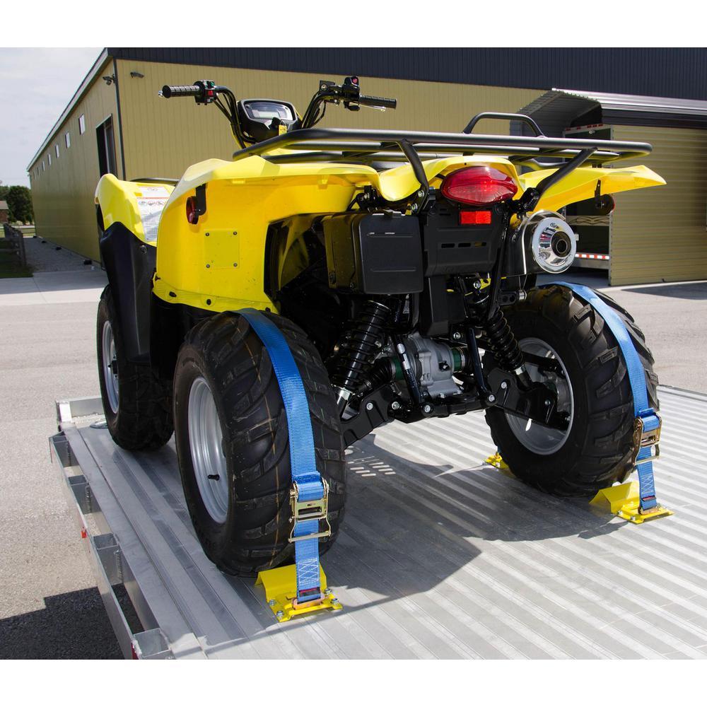 6 ft. x 2 in. E-track ATV Strap with 4 in. E-track Kit
