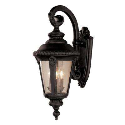 Commons 3-Light Black Outdoor Wall Mount Lantern