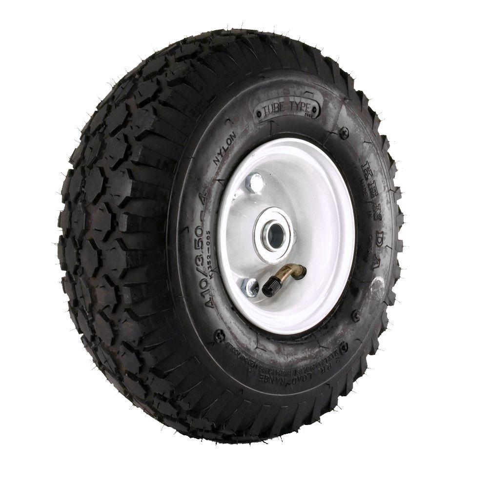Kenda K352 Stud 410/350-4 Tire Mounted on 2-Piece Wheel with 2-1/8