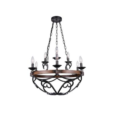 Morden 9-Light Gun Metal Chandelier
