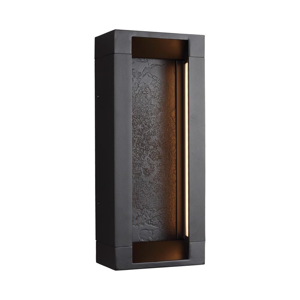 Mattix Oil-Rubbed Bronze Outdoor LED Wall Lantern