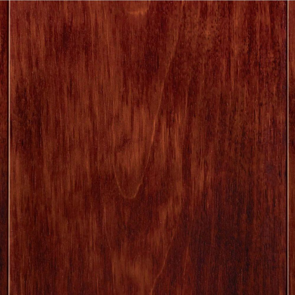 Home Legend Take Home Sample - High Gloss Birch Cherry Click Lock Hardwood Flooring - 5 in. x 7 in.
