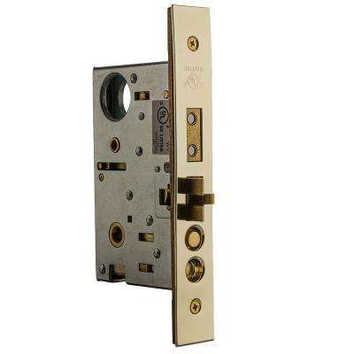 Lifetime Polished Brass Entrance Emergency Egress Left-Handed Mortise Lock