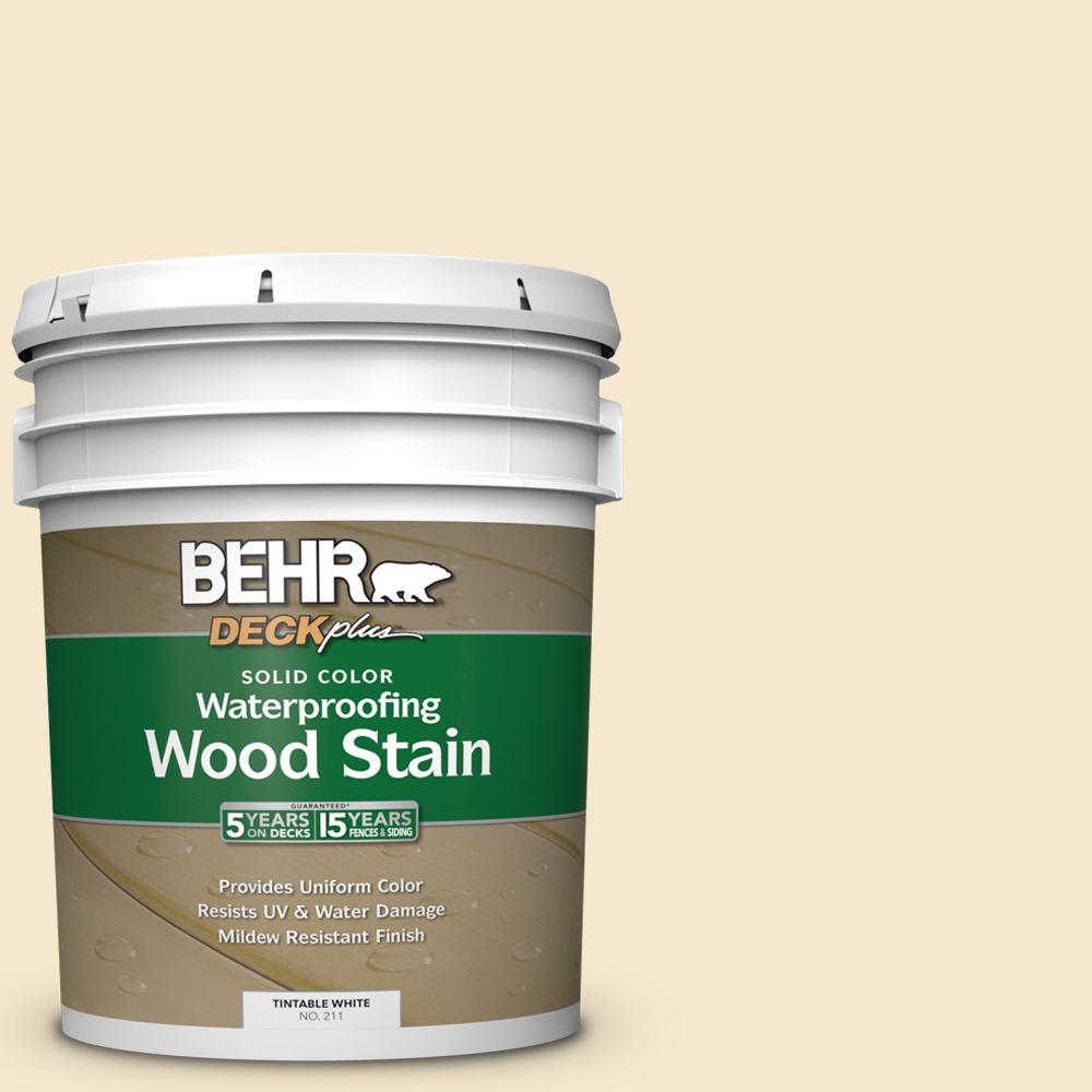 BEHR DECKplus 5 gal. White Base Solid Color Waterproofing Exterior Wood Stain