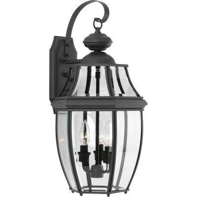 Progress Lighting Outdoor Wall Sconce Progress lighting outdoor wall mounted lighting outdoor lighting new haven collection 3 light outdoor black wall lantern workwithnaturefo