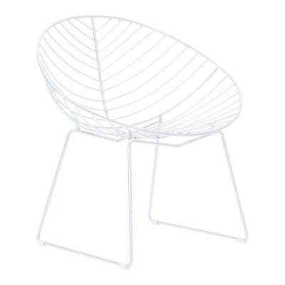 Hyde White Metal Outdoor Lounge Chair (2-Pack)