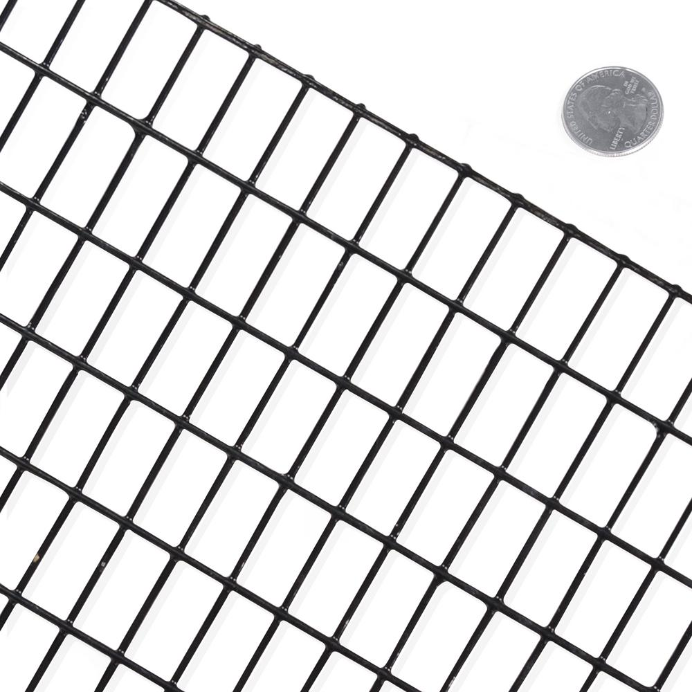 Fencer Wire 2 Ft X 50 16 Gauge Black Pvc Coated Welded Mesh Size 0 5 In 1
